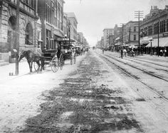 Houston street a street car line on houston street in the early 20th