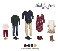family photo outfits What to wear for fall family photos! Grab a Pumpkin Spice latte and check out these fun looks for the whole family. Love this fall wardrobe inspiration! Fall Family Picture Outfits, Family Picture Colors, Family Portrait Outfits, Family Photos What To Wear, Family Portraits, Navy Family Pictures, Winter Family Photos, Family Pics, Fall Pictures