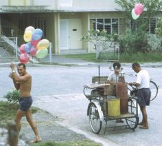 RAAF Personnel serving at Butterworth Air Base Malaysia gathering balloons. Butterworth, The Old Days, 3 Years, Vintage Photos, Singapore, Baby Strollers, Balloons, Base, Traditional