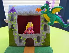 Castle Puppet Theater Quiet Book Page   Imagine Our Life