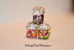Autumn Harvest Preserves in Dollhouse Miniature by WindyPointMiniatures