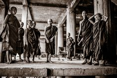 LIFE ON THE PATH by Quinn Ryan Mattingly  #blackandwhite #people #photography #Buddhism #Myanmar #Asia