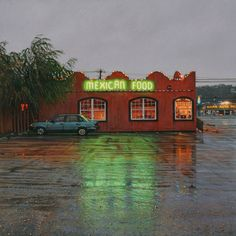 "Rod Penner, ""Mexican Food"", 6 by 6 inches, acrylic on panel."