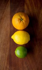 Citrus fruits stock photo