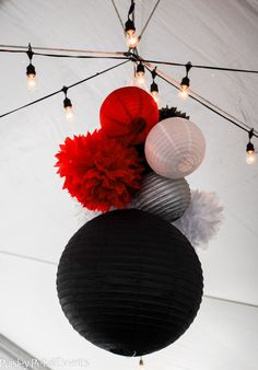 party tent decor ...make smaller for ballroom decorations?