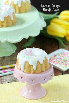 cute way to display as single serving sized bundt cake or cupcake