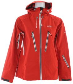 2117 of Sweden Storsylen 3L Ski Jacket Red - Women's. The Storslyn 3L jacket lets you embrace your all weather activities, it has our Tritech membrane to keep you dry and warm and great breathability for ultimate in body regulation during your session on the mountain or building a snowman with the family. Comfortable underarm zipper vents wont get in your way and the ergonomically placed 2 large chest pockets will keep your goodies handy and dry while you spend the day in the great outdoors…