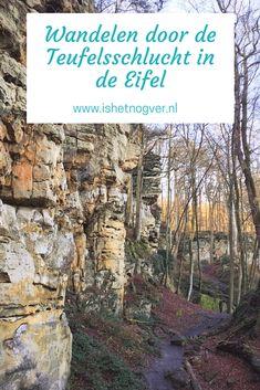 Aanrader: wandelen door de duivels mooie Teufelsschlucht in de Eifel.   #Duitsland #Eifel
