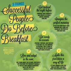 5 Things #Successful People Do Before Breakfast  Do you follow it already?  #Thursday #Motivation  [Courtesy: Social@Ogilvy]