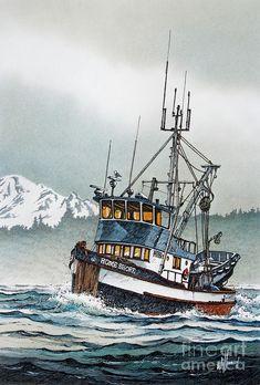 Boat Drawing, Ship Drawing, Fishing Boats, Fishing Games, Fishing Chair, Catfish Fishing, Ice Fishing, Fishing Rod, Old Sailing Ships