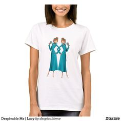 Customizable T-Shirt made by Zazzle Apparel. Minions 1, Cartoon T Shirts, Despicable Me, Wardrobe Staples, Create Your Own, Fitness Models, Female, Casual, Fabric