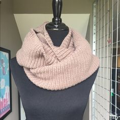 """Light brown infinity scarf The perfect winter accessory, this light brown infinity scarf will add some pop to your outfit. Color is a light mocha brown. 27"""" long and 14 1/2"""" wide. Never worn. Accessories Scarves & Wraps"""