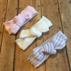 Hospital Newborn Headbands, Set of 3 headbands, first headbands, hospital hat, Baby Girl headband by BBgiftsandmore on Etsy