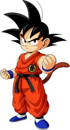 Young Goku wearing his fighting Gi in colour. This outfit pretty much becomes his staple image as a child. This is interesting as it shows Goku with a more serious expression than normal. Dragon Ball Gt, Dragon Ball Z Shirt, Blue Dragon, Kid Goku, Dragonball Goku, Chibi, D Mark, Kids Poster, Cartoon Characters