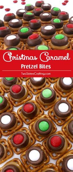 Our Christmas Caramel Pretzel Bites are easy to make and super delicious. They are one of our favorite Christmas Desserts! Sweet, salty, crunchy and festive, your Christmas Party guests will clamor for more of these yummy Christmas Treats! Follow us for more great Christmas Food Ideas.
