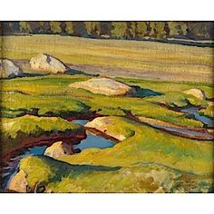 Glacial Meadow (Tuolumne Meadows), Maynard Dixon (American, 1875-1946) Aug 1921, Oil on canvas, 16 in. x 20 in