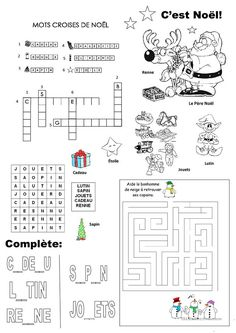 Barbie Christmas Printable Coloring Pages Christmas Treats For Gifts, Fun Christmas Party Games, Christmas Activities, French Christmas, Christmas Feeling, French Teaching Resources, Teaching French, Christmas Worksheets, Christmas Printables