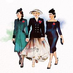 Artwork inspired by Princess Diana with her daughters-in-law Kate Middleton, Duchess of Cambridge and Meghan Markle, Duchess of Sussex Meghan Markle, Princess Diana Family, Princess Of Wales, Princess Meghan, Princess Katherine, Disney Princess, Duke And Duchess, Duchess Of Cambridge, Anime Comics