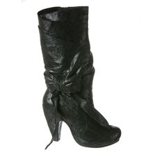 IRREGULAR CHOICE: Party Pants in Black Leather