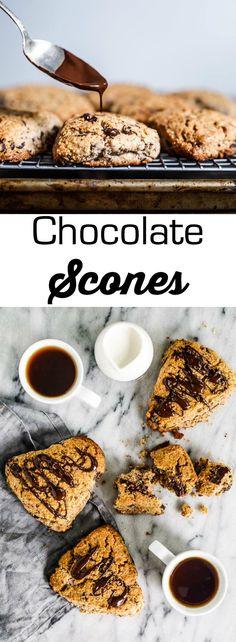 chocolate scones {GF} | 1BigBite