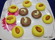 Kesar Peda & Chocolate Peda in Microwave