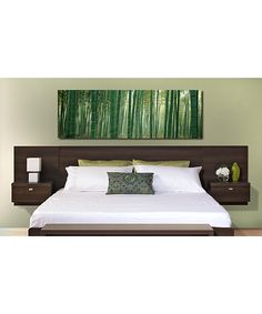 Espresso Series 9 Designer Floating Headboard Nightstand   Daily deals for moms, babies and kids
