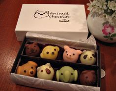 These little animal truffles are so cute that I don't think I'd be able to eat them!