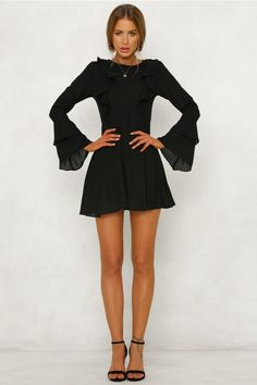Nothing But A Smile Dress Black