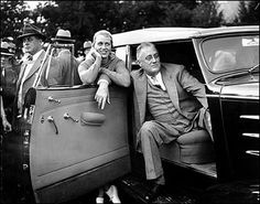 Anna Roosevelt ---President Franklin Delano Roosevelt relaxes in a motorcade car accompanied by his daughter, Anna, during a baseball game between White House newspapermen and a team fielded by broadcast journalist Lowell Thomas at Quaker Hill near Pawling, N.Y., Sept. 21, 1935. Anna died of cancer in 1975 at age 69.