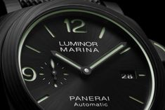 The new Luminor Marina Carbotech – 44 mm takes full advantage of its potential luminosity by emphasising its own personality out of all proportion. The post Panerai Luminor Marina Carbotech – a Tribute to Luminescence appeared first on WATCHESPEDIA. Women's Watches, Watches For Men, Panerai Automatic, Panerai Luminor Marina, New Details, Black Rubber, Timeline, Personality, News