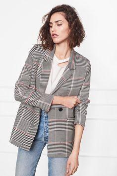 Anine Bing checkered blazer