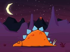 Sleeping Stegosaurus by Paddy Donnelly