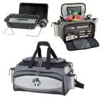 Picnic Time BYU Cougars - Vulcan Portable Propane Grill and Cooler Tote Kit with Digital Logo, Black/Gray
