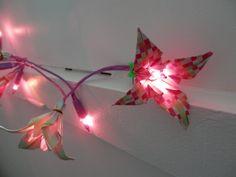 Origami iris   Guirlande lumineuse origami iris : Accessoires de maison par motus-et ...