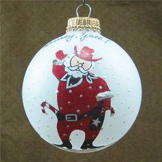 Cowboyt Santa Claus Western Texas Christmas ornament
