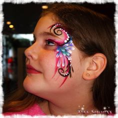 Face painting by Tink Schmink on the job picture