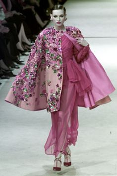 Saint Laurent | Spring 2002 Couture Collection | Style.com - Flowers