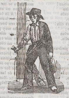 Xilografía alusiva en cabecera de un hombre de pie, con sombrero y un vaso en la mano.