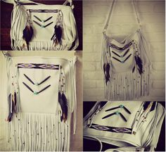 NATIVE NOMAD Weekend/Tote Boho Bag /// Bone or Red by luxdivine #boho #tribal