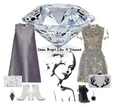 """""""You're a shooting star I see, A vision of ecstasy"""" by obsessedaboutstyle ❤ liked on Polyvore featuring Balenciaga, Valentino, Chloé, Gianvito Rossi, Edie Parker, Charlotte Olympia, Stephen Webster and Ice"""