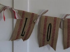 valentines day garland using upholstery tape!