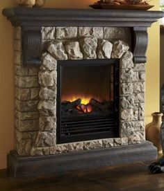 fireplaces pictures | Electric Fireplace by Classic Flame in Faux ...