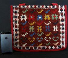 Handmade Kilim Bag, Colorful Natural Wool - Persian Souvenir  - 1 Persian, Bohemian Rug, Etsy, Wool, Rugs, Unique Jewelry, Handmade Gifts, Colorful, Vintage