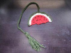 Watermelon Book Marker - Meladora's Free Crochet Patterns & Tutorials