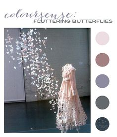 ColourSense: Fluttering Butterflies (dusky pinks & greys)