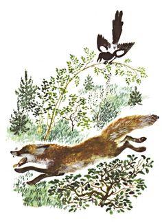 иллюстрация Cute Animal Illustration, Pattern Illustration, Children's Book Illustration, Retro Illustrations, Animals Images, Painting Inspiration, Style Inspiration, Painting Patterns, Animal Drawings