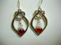 Antique SILVER Czech Glass and CRYSTAL Earrings by Beads4You2008,