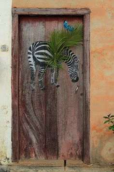 But you'll never take the Africa out of the boy. Seen in Vinales, Cuba. You Can Take The Boy Out Of Africa. Cool Doors, Unique Doors, Porte Cochere, Entrance Doors, Doorway, Front Doors, Art Crea, The Doors Of Perception, When One Door Closes