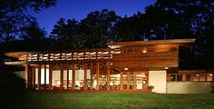 Usonian House - a style that utilized admirable green building principles, including smaller footprints, lower cost, passive solar and radiant heating.    Read more: Frank Lloyd Wright Renovation Receives Merit Award | Inhabitat - Sustainable Design Innovation, Eco Architecture, Green Building