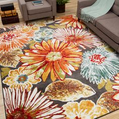Indoor/ Outdoor Promise Monteray Multi Rug (5'2 x 7'6) - 16505606 - Overstock Shopping - Great Deals on Carolina Weavers 5x8 - 6x9 Rugs